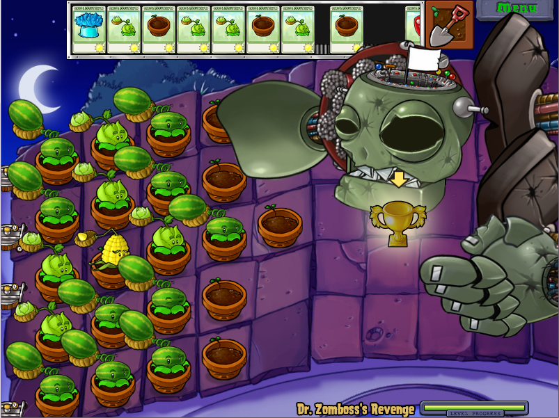 Plants Vs Zombies Mini Game Dr Zomboss' Revenge
